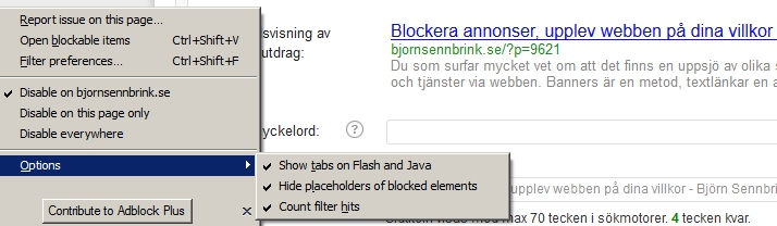 Adblock Plus settings