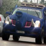 the Dudesons blue elephant car