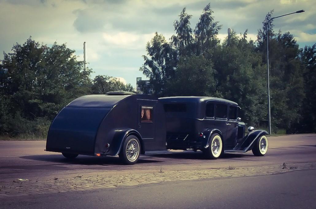 Rod med husvagn