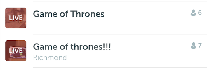 Game of Thrones @ Periscope