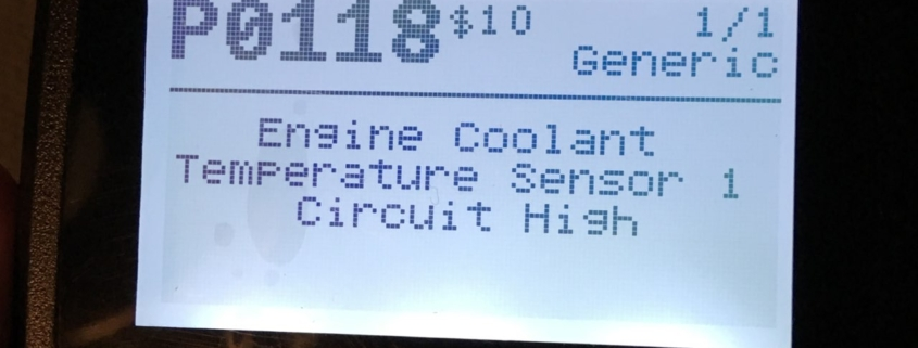 engine coolant temp sensor code