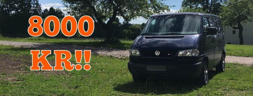 Vi lagade upp VW-bussen för 8000 kr