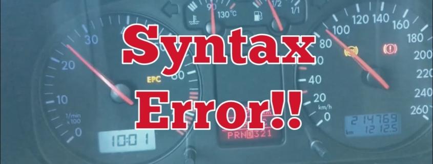 cartestr familjebuss syntax error