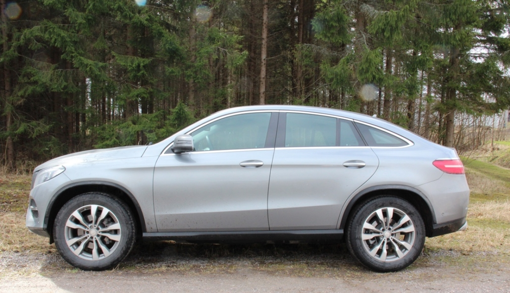 mercedes benz gle coupe side profile